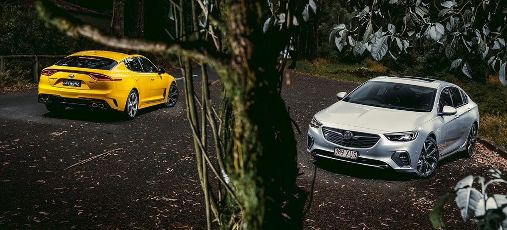 2018 Kia Stinger GT vs Holden Commodore VXR performance comparison review