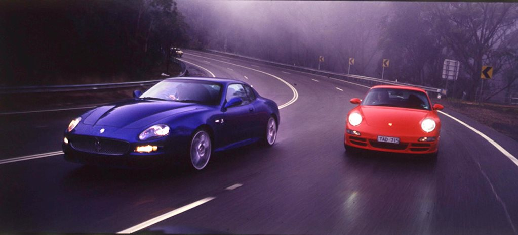 2005 Maserati GranSport vs Porsche 911 Carrera S comparison review classic MOTOR