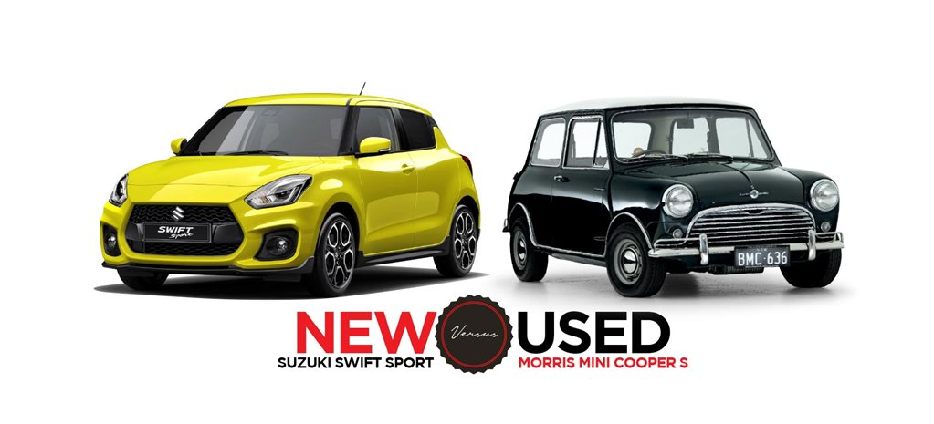 2018 Suzuki Swift Sport vs 1966 Mini Cooper S new vs used feature