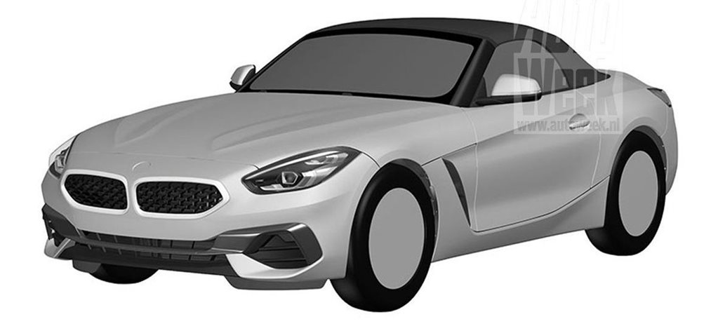 2019 BMW Z4 styling discovered in patent drawings