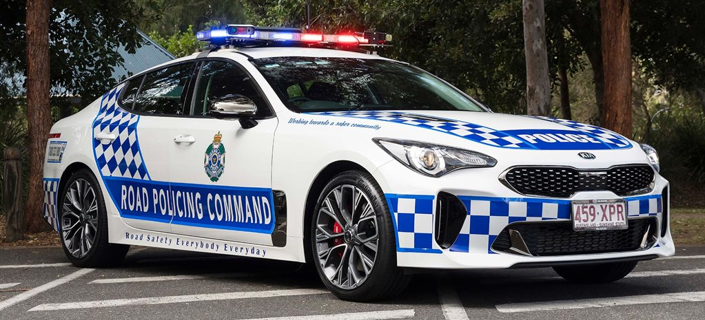 Kia Stinger twin-turbo V6 Queensland Police news