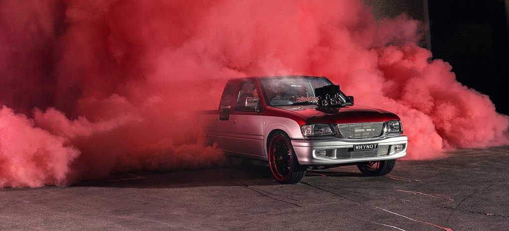 Holden Rodeo burnout