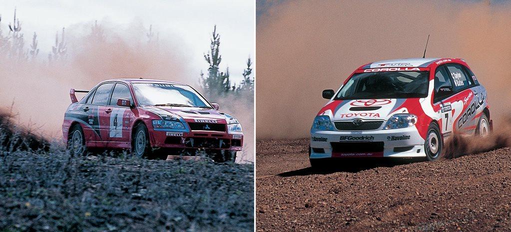 2003 Toyota Corolla Vs Mitsubishi Evo Vii Rally Comparison Classic
