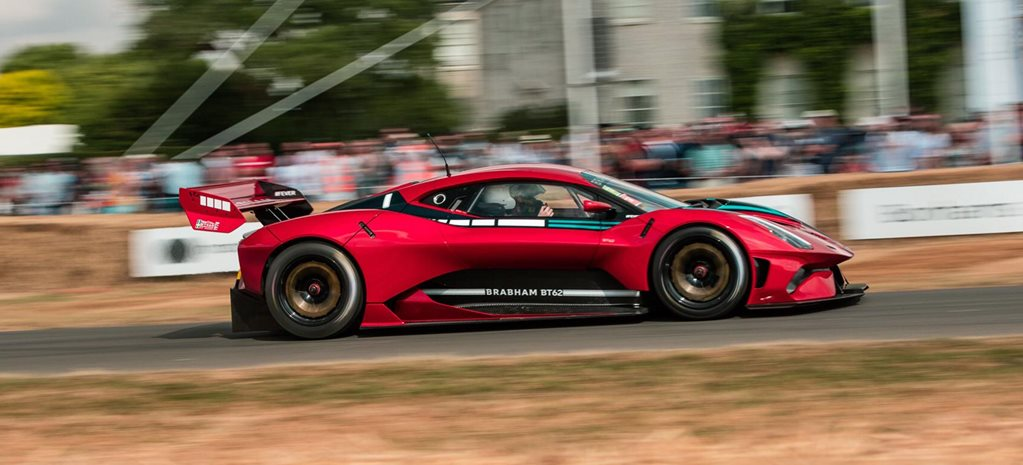 2018 Brabham BT62 runs the Goodwood hillclimb