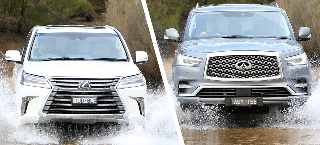 Infiniti QX80 v Lexus LX570 comparison review