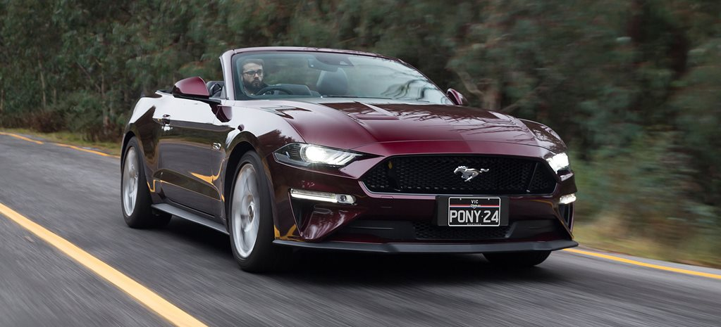 2018 Ford Mustang GT convertible onroad