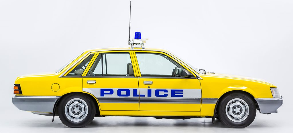 Holden VK Commodore Police car side