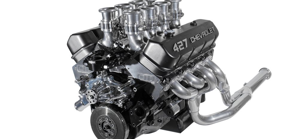 Powerhouse Engines 427ci big-block Chev with eight-throttle