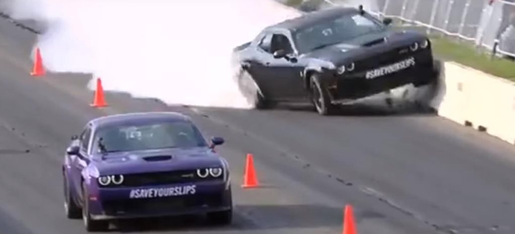 Richard Rawlings Hellcat crash at Roadkill Nights