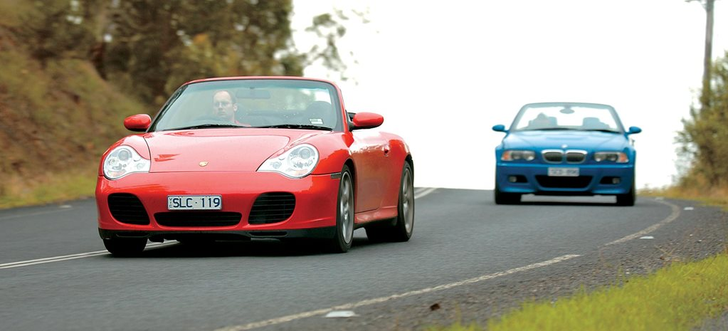 2004 Porsche 911 Carrera 4S Cabriolet vs BMW M3 Cabriolet comparison