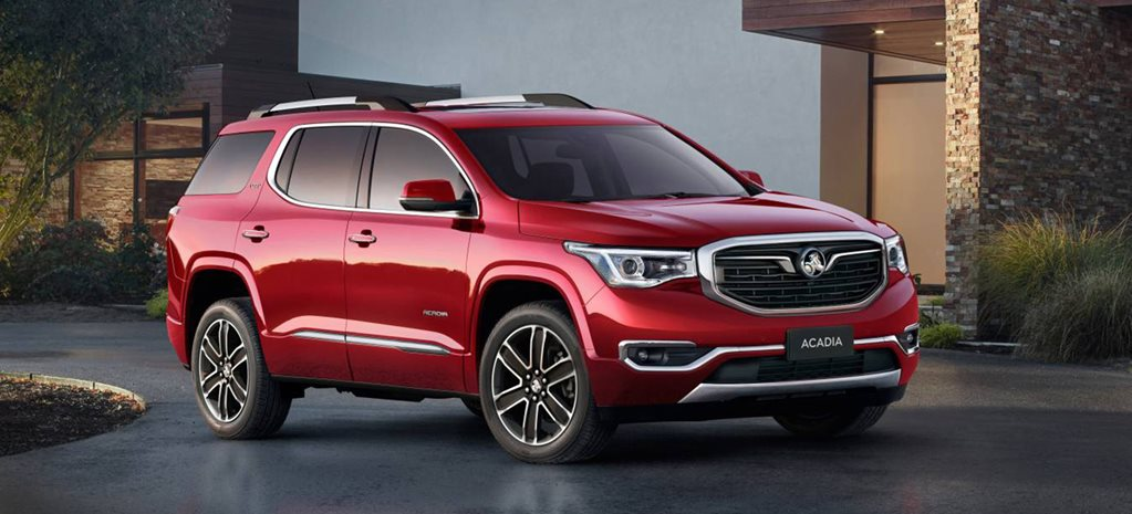 2019 Holden Acadia SUV features detailed