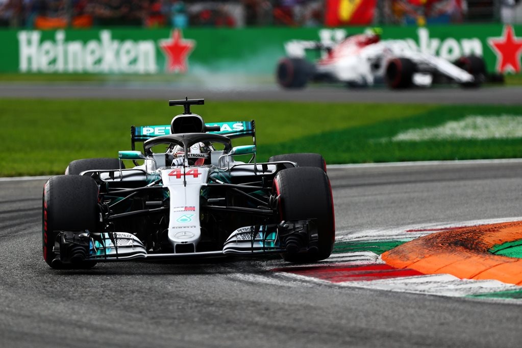 Hamilton wins at Monza following first-lap clash