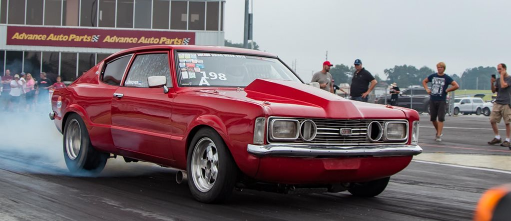 Estonian twin turbo Ford Taunus at Hot Rod Drag Week 2018
