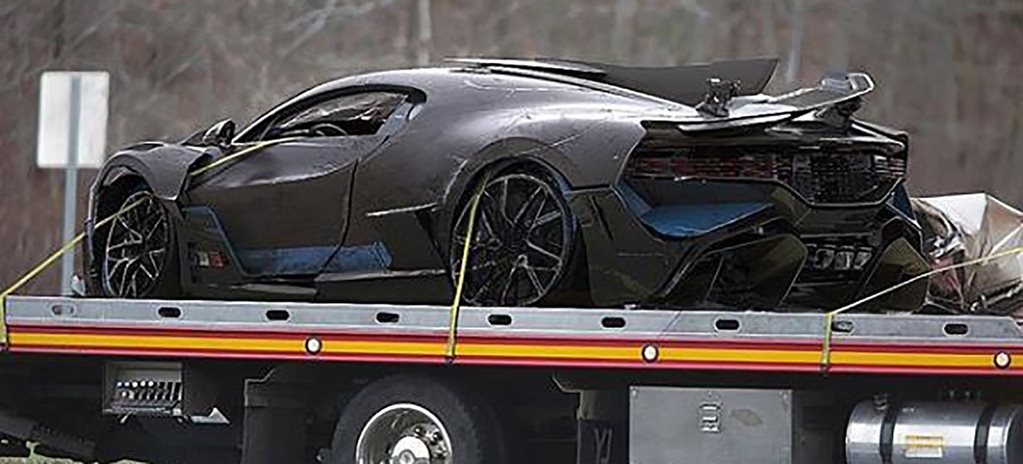 Bugatti Divo crash is a fake