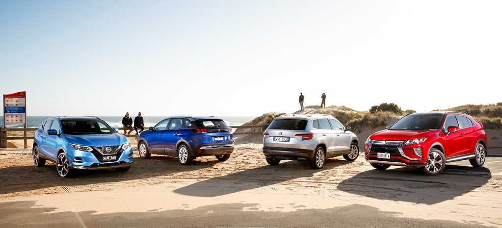 Skoda Karoq v Nissan Qashqai v Mitsubishi Eclipse Cross v Peugeot 3008 comparison review