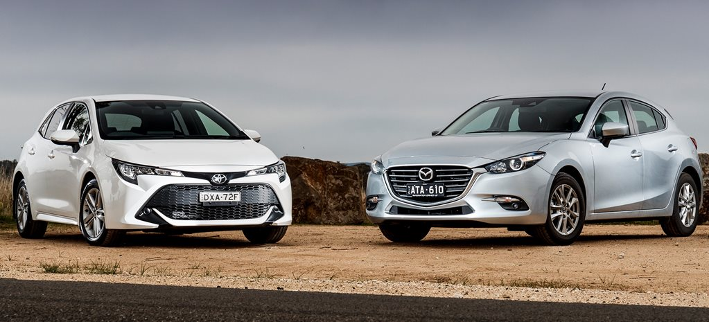 Mazda 3 Sport Vs Touring >> 2018 Toyota Corolla Ascent Sport V Mazda 3 Touring
