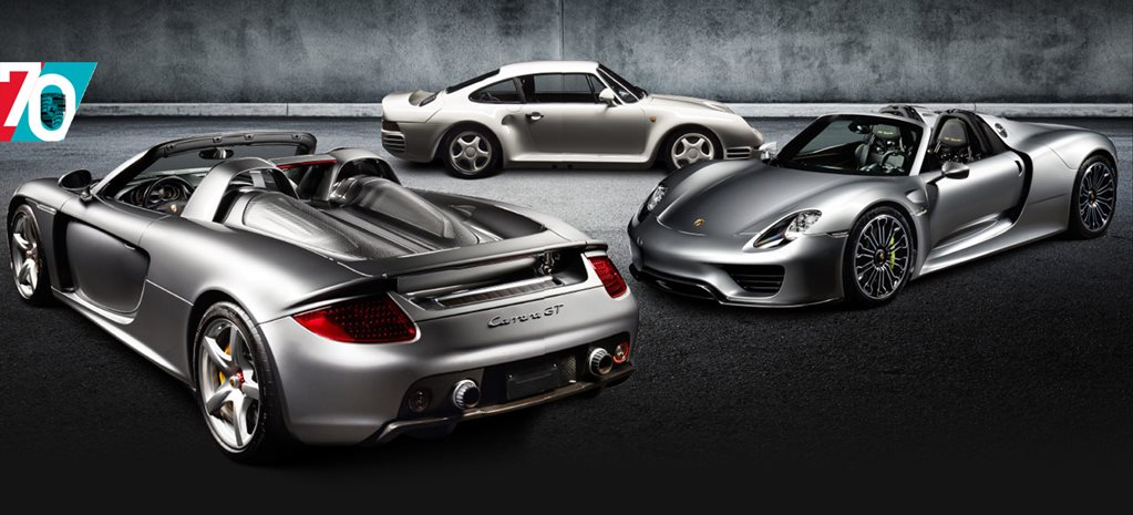 The Incredibles - 959, Carrera GT & 918 Spyder: Porsche turns 70