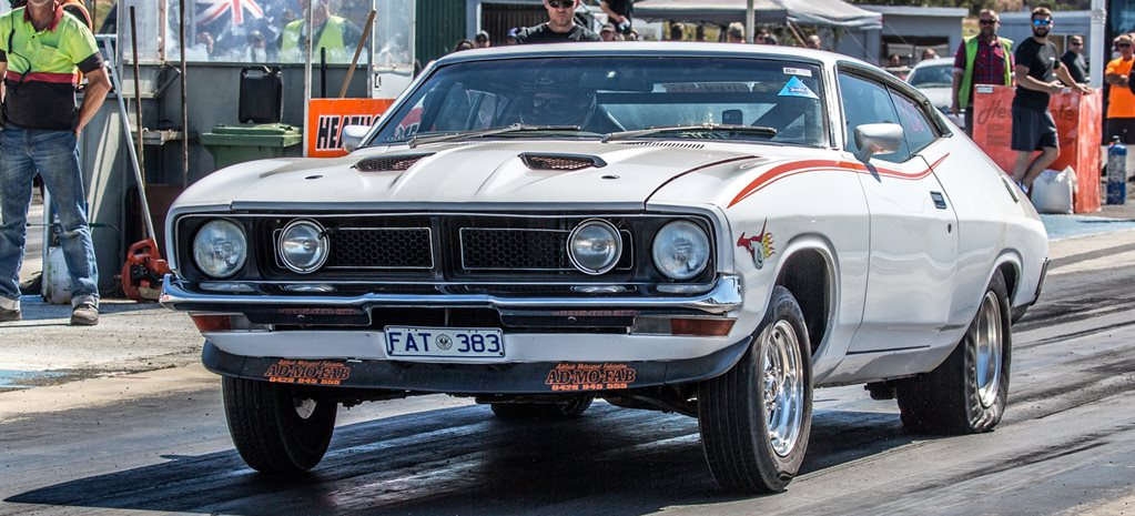 Big turbo XB Falcon coupe – Drag Challenge contender