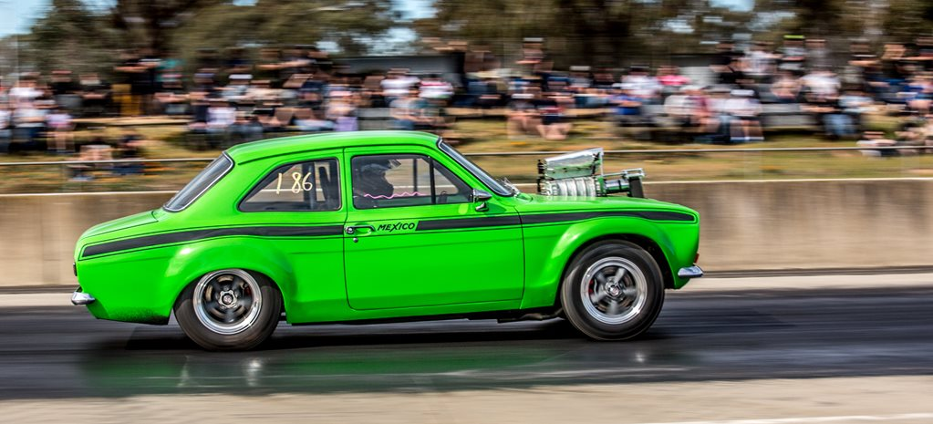 Blown 253 Escort at the drags – Video