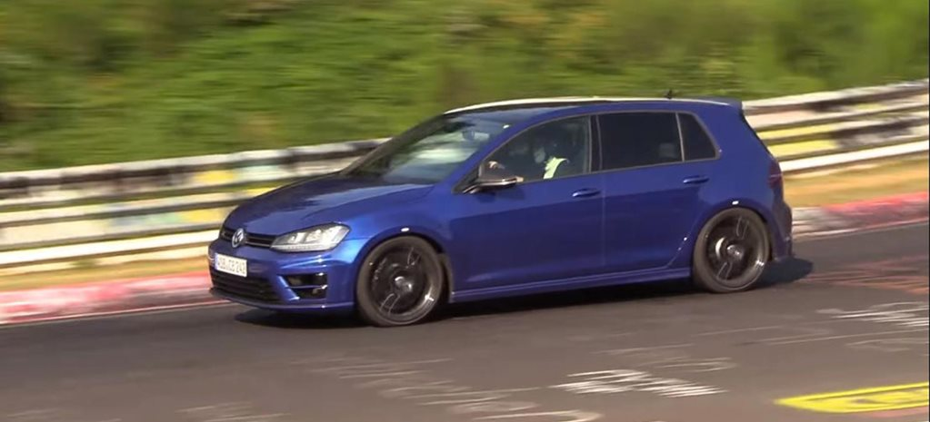 Volkswagen testing 5-cylinder Golf R video