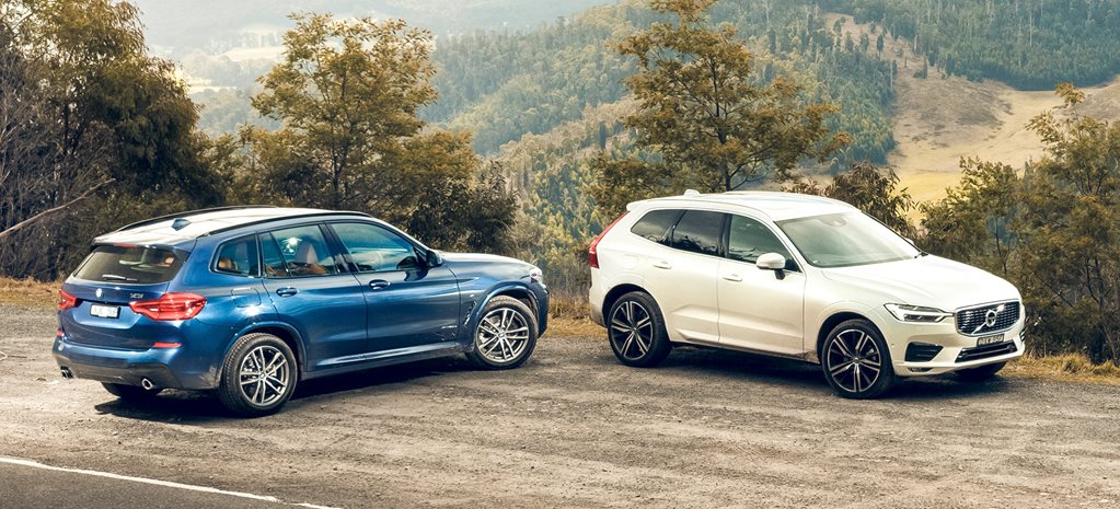 2018 BMW X3 xDrive20d v Volvo XC60 D5 R-Design comparison review
