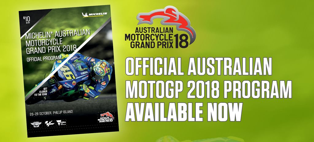 2018 Australian Motorcycle Grand Prix official program
