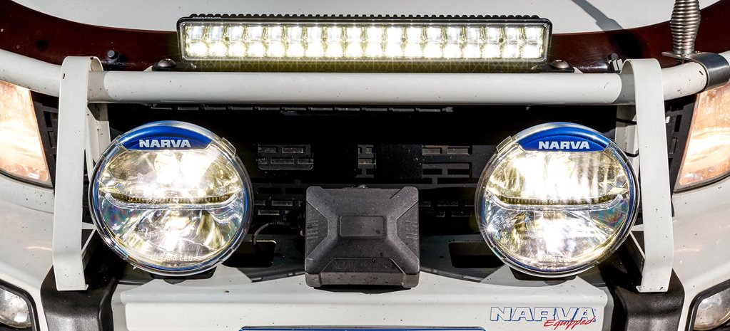 Narva Ultima LED 225 driving lights and Explora light bar ... on ultima motor wiring diagram, ultima harness 18 530, ultima electronic wiring system,