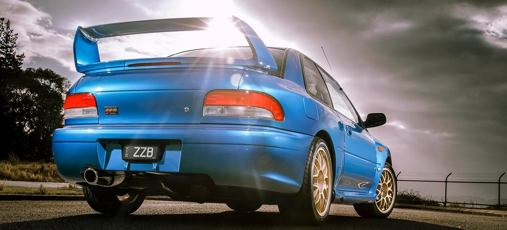 1998 Subaru WRX STI 22B driving your heroes feature