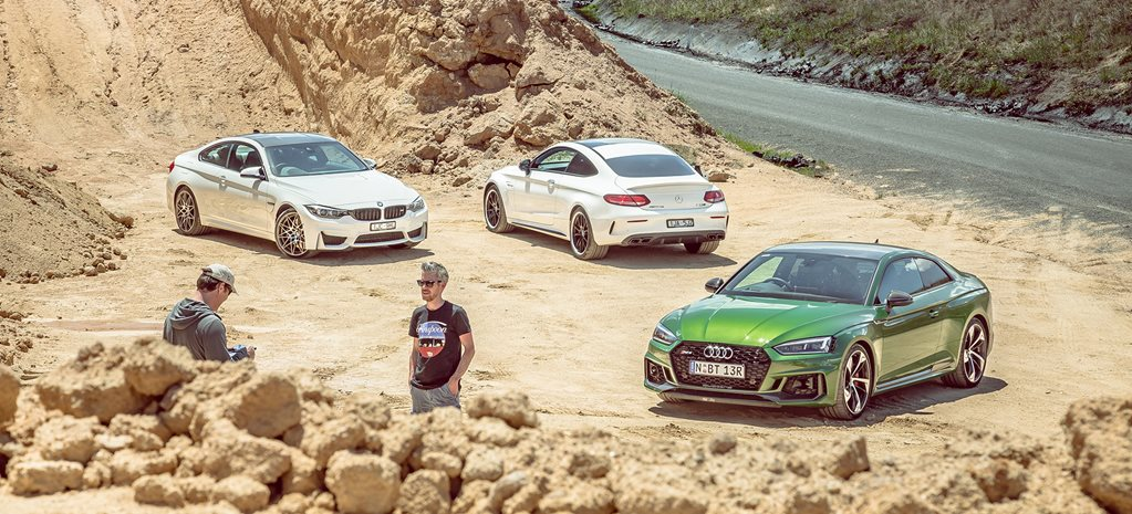 Audi RS5 vs BMW M4 vs Mercedes-AMG C63 comparison