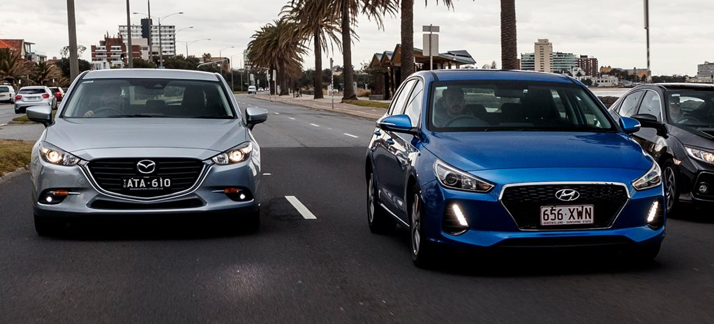 Mazda 3 Touring v Hyundai i30 Active comparison review