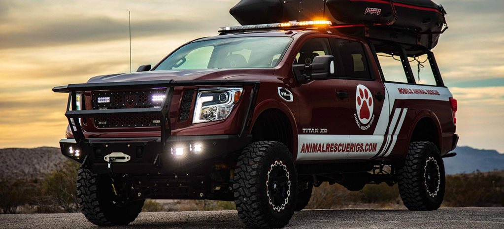 SEMA 2018 Nissan PAWS ONE Titan let loose news