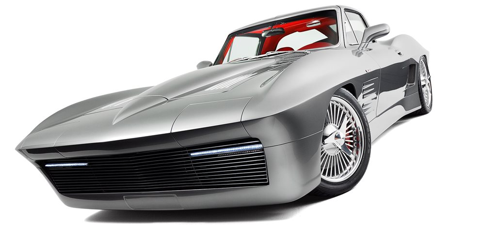 Retrotech blown 1963 C2 Corvette mated with 2003 C5 Z06