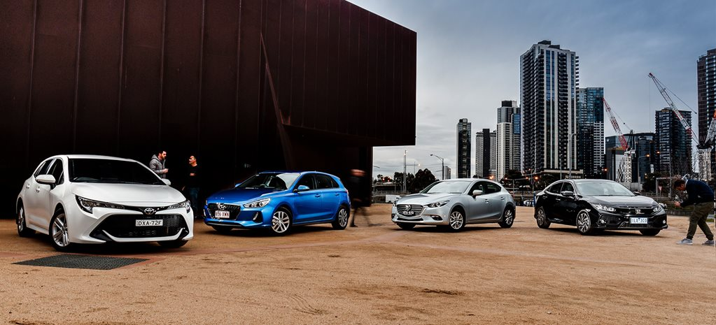 Toyota Corolla vs Hyundai i30 vs Mazda 3 vs Honda Civic comparison review