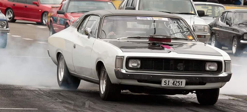 Blown 410ci VH Valiant hardtop at Drag Challenge 2018