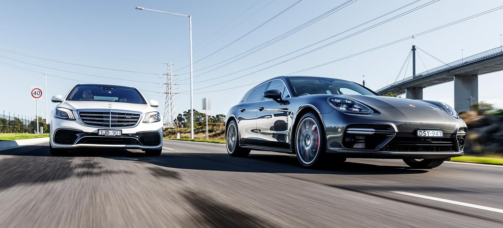 2018 Porsche Panamera Turbo Sport Turismo vs Mercedes-AMG S63 L performance comparison feature
