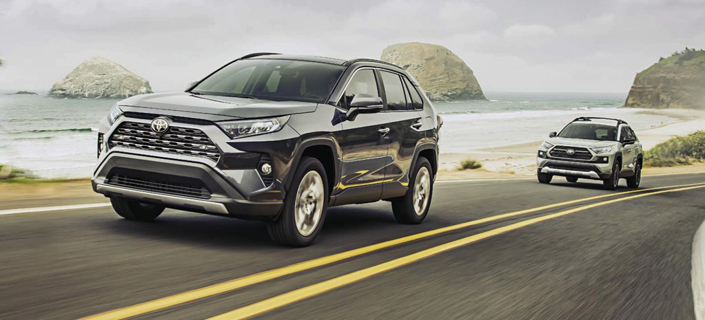 2019 Toyota RAV4 on highway