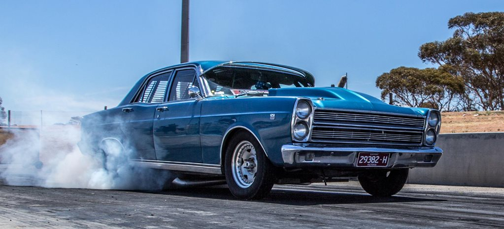 670rwhp nitrous Windsor-powered Ford Fairlane at Drag Challenge 2018