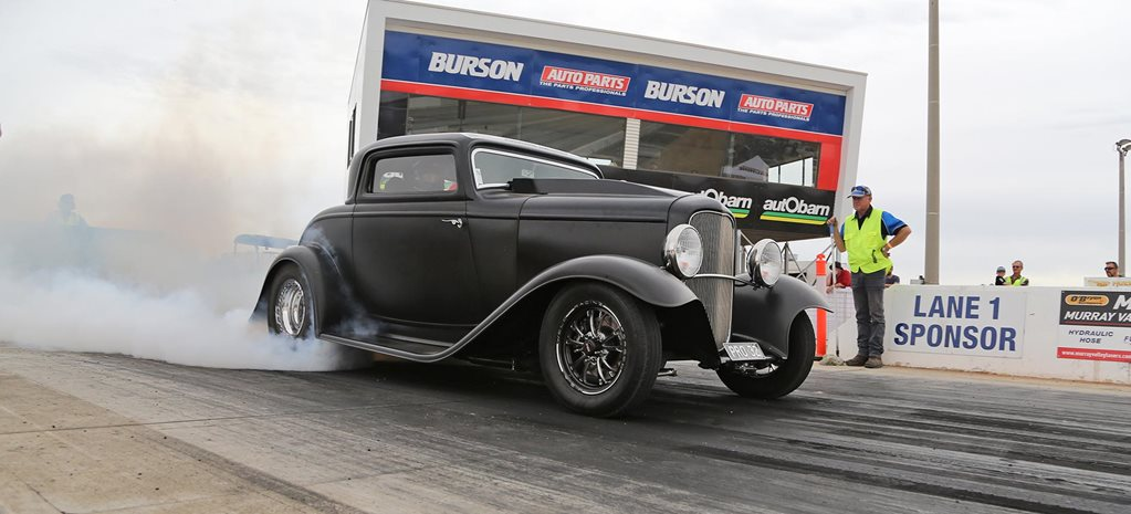 680hp small-block Chev-powered '32 Ford coupe at Drag Challenge 2018