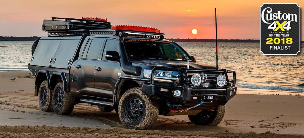 2018 Custom 4x4 of the Year finalist 6x6 Toyota LandCruiser 200 Series feature
