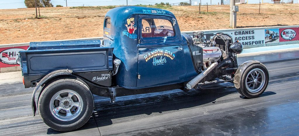 Hemi-powered 1934 Ford hot rod ute at Drag Challenge 2018