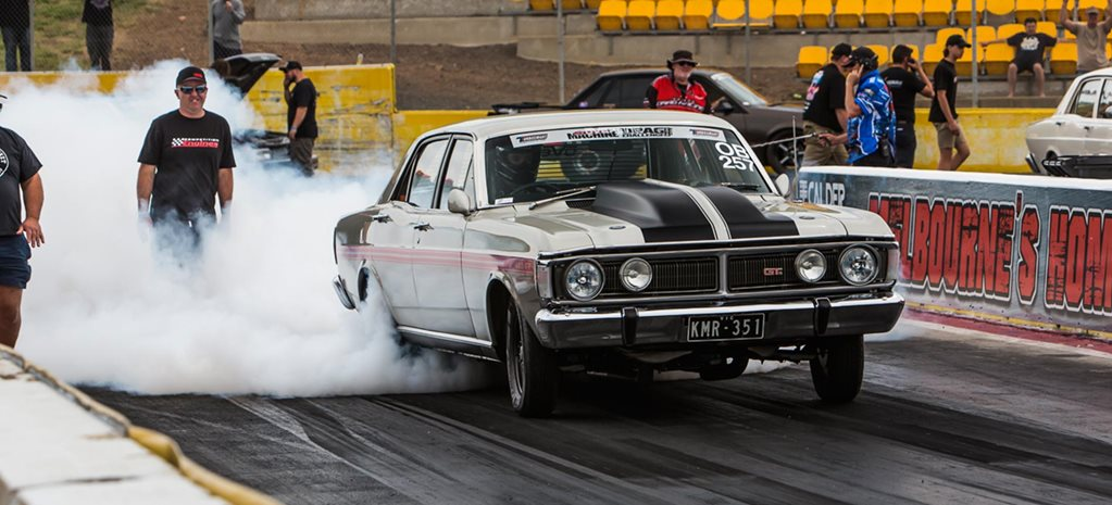 Eight-second, 1100hp XY Falcon at Drag Challenge 2018