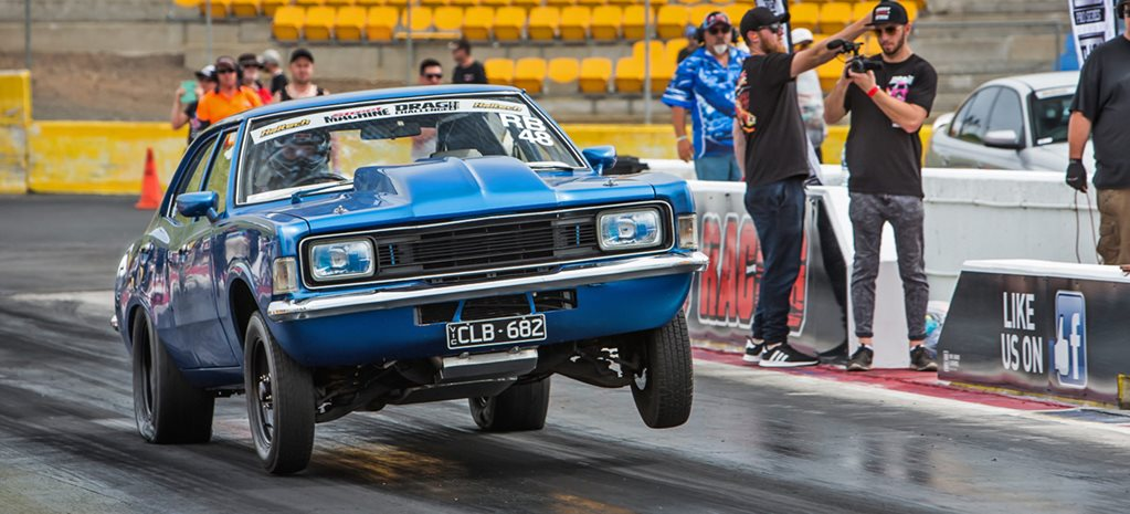 Mid-eight-second Barra-powered Ford Cortina at Drag Challenge