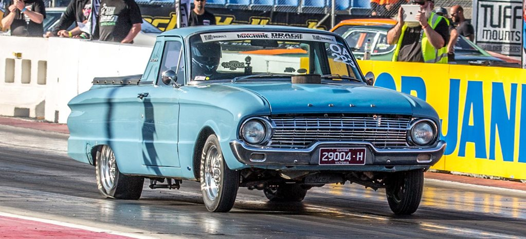 11-second small-block Ford-powered XL Falcon ute at Drag Challenge 2018