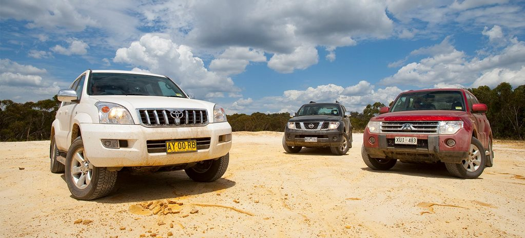 2009 Toyota Prado vs Nissan Pathfinder vs Mitsubishi Pajero comparison review