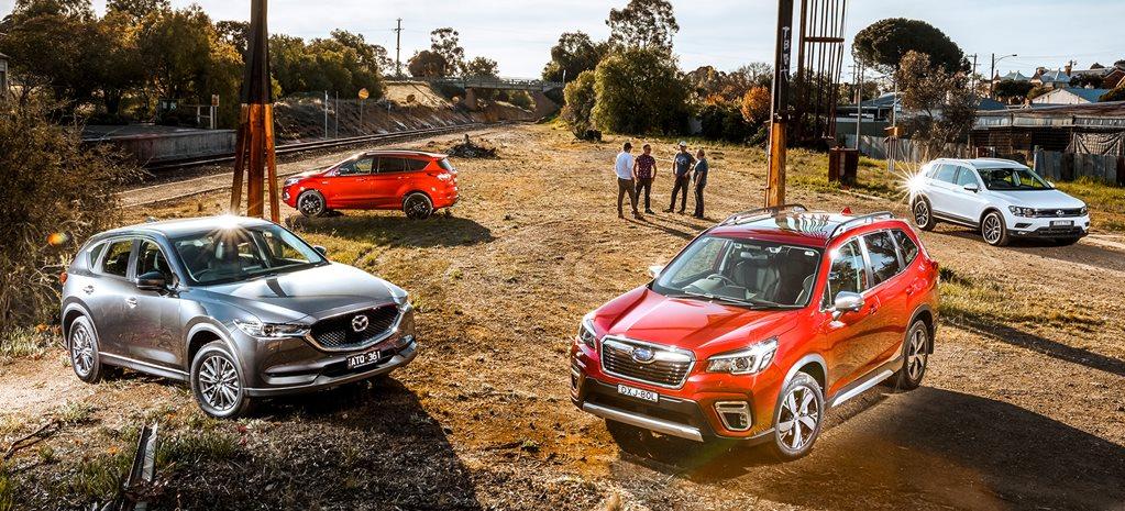 Subaru Forester Vs Mazda Cx 5 Vs Ford Escape Vs Volkswagen