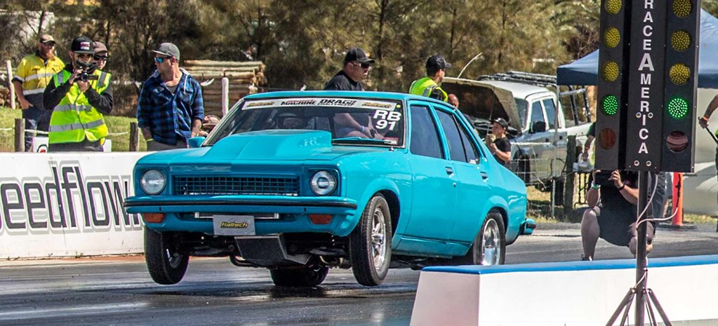 580hp blown LSA-powered LX Torana at Drag Challenge