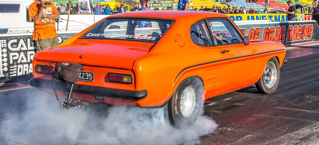 1000rwhp Barra-powered Ford Capri daily driver at Drag Challenge 2018