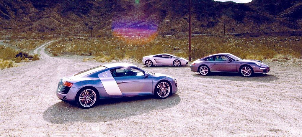 2007 audi r8 vs lamborghini gallardo vs porsche 911 carrera s