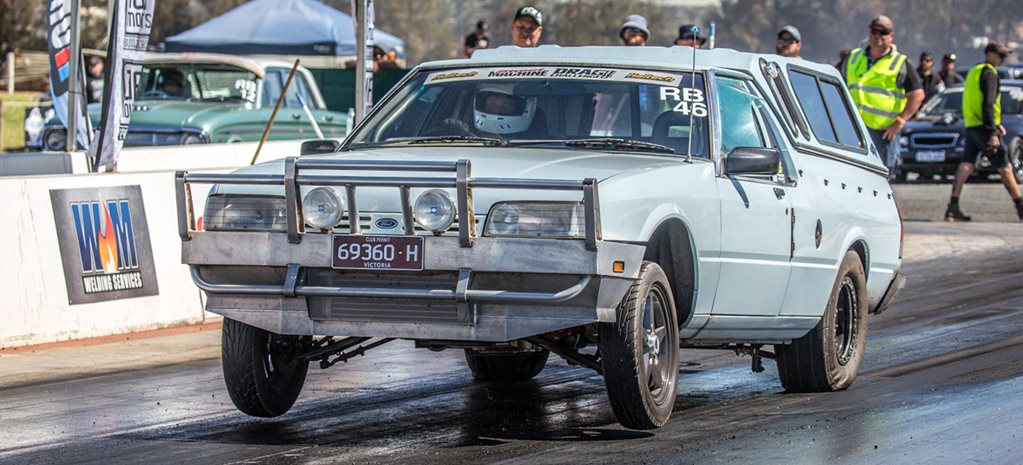 Nine-second, Barra-powered XF Falcon at Drag Challenge 2018