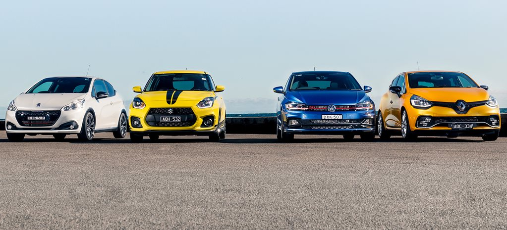 Volkswagen Polo GTI vs Renault Clio RS vs Suzuki Swift Sport vs Peugeot 208 GTi comparison review